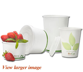 BioCup range of biodegradable and compostable paper cups and bowls