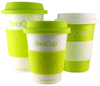 BioPak ByoCups reusable biodegradable and compostable cups